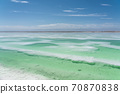 Aerial of salt lakes, natural landscape. 70870838