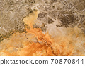 Texture of the ground with orange color. 70870844