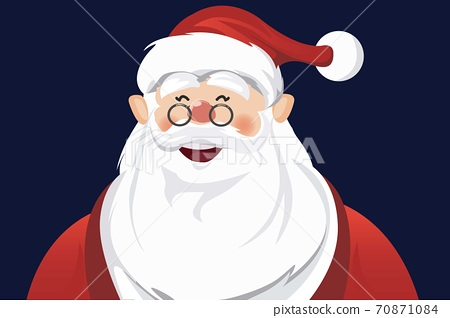 vector of portrait of santa claus happy and smiling 70871084