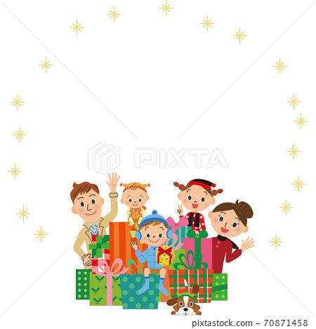 家庭聖誕節禮物盒框架 70871458