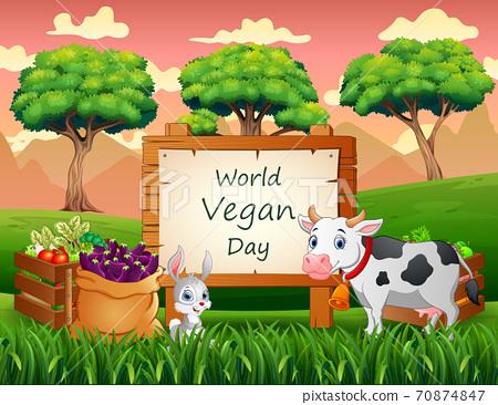 Happy World Vegan Day concept background 70874847
