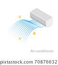 空調等距圖,精簡的藍色漸變風 70876632