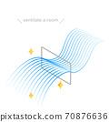 圖示窗戶通風等距,流線型藍色漸變風 70876636