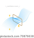 圖示窗戶通風等距,流線型藍色漸變風 70876638