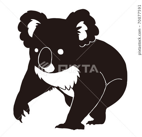 Koala silhouette illustration 70877591