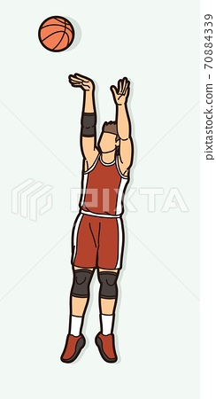 Basketball player action cartoon graphic vector 70884339