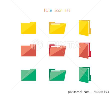 文件夾文檔文件圖標的矢量圖 70886153
