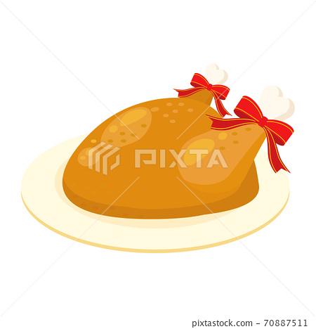 烤雞圖聖誕節 70887511