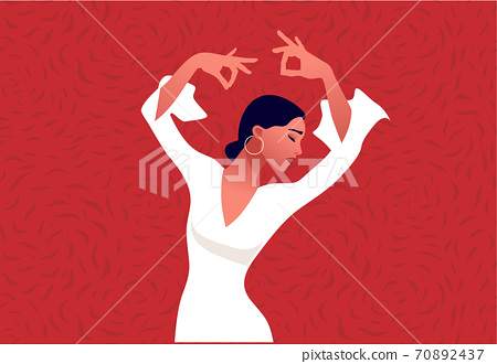 Beautiful graceful hands of young flamenco dancer 70892437