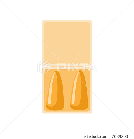 Yellow earplug for sleep on white background. Elements bedtime for lifestyle and travel in style flat 70898033