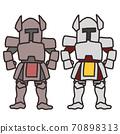 盔甲的騎士的人物插圖 70898313