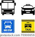 public transportation icons and signs 70900656