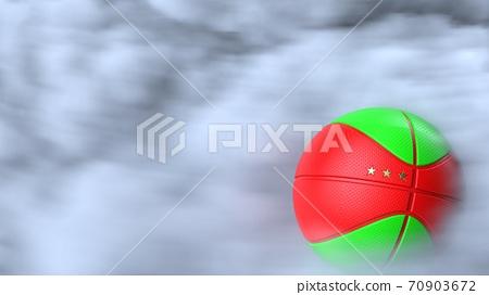 농구의 3D 일러스트 70903672