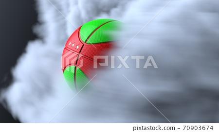 농구의 3D 일러스트 70903674
