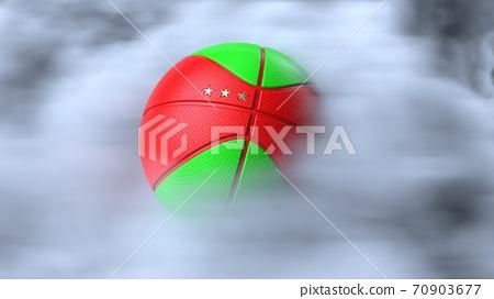농구의 3D 일러스트 70903677