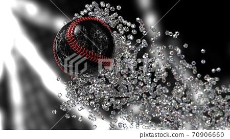 야구 공의 3D 일러스트 70906660