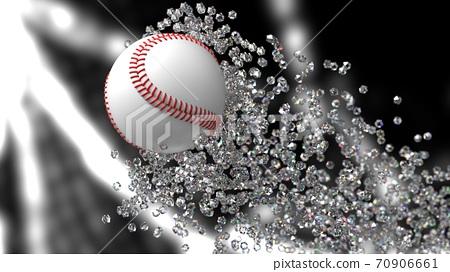 야구 공의 3D 일러스트 70906661