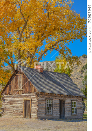 Butch Cassidy's childhood home. The old structure is preserved in Panguitch, Utah 70907944