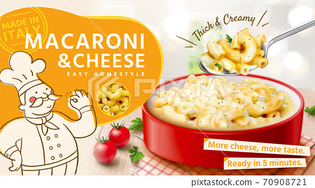 Tasty macaroni and cheese ads 70908721