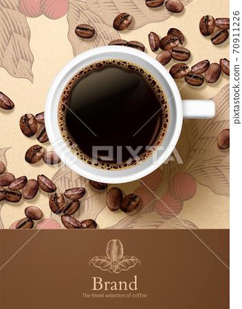 Refreshing black coffee ad 70911226