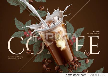 Cold brew coffee ads 70911229