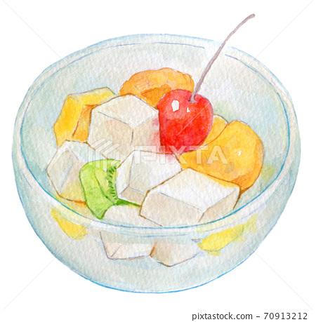 수채화 일러스트 식품 과일 펀치 70913212