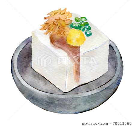 水彩插圖食品冷傢伙 70913369