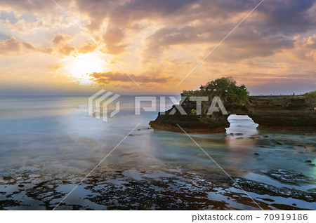 Tanah Lot temple in Bali Indonesia. 70919186