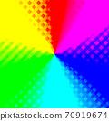 화려한 그라데이션 색상의 체크 무늬 배경 메탈릭 무지개 도트 무늬 빨강, 파랑, 노랑, 분홍, 녹색, 70919674