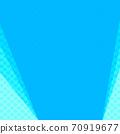 파란색과 하늘색 물방울과 무지의 복사 공간 배경 70919677