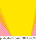 핑크와 오렌지의 물방울과 노란색 계열의 단색 복사 공간 배경 70919678