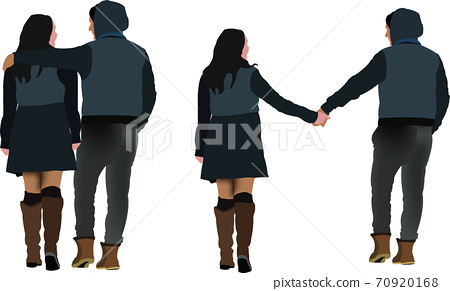 couple of young men embraced and by the hand hand 70920168