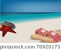 beach vacation landscape with bather and travel 70920173