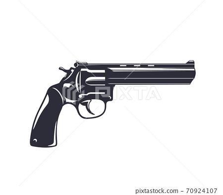 revolver, handgun, gun isolated on white 70924107
