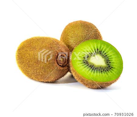 Kiwi fruit isolated on white background 70931026