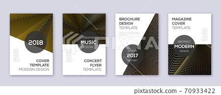 Modern brochure design template set. Gold abstract 70933422