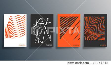 Minimal geometric design for flyer, poster, brochure cover, background, wallpaper, typography or other printing products. Vector illustration 70934218