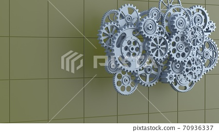 3D illustration of gears 70936337