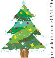 聖誕樹的手繪插圖 70941296