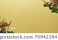 Japanese style background of Shochikuume and gold leaf-There are multiple variations 70942264