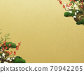 Japanese style background of Shochikuume and gold leaf-There are multiple variations 70942265
