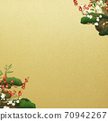Japanese style background of Shochikuume and gold leaf-There are multiple variations 70942267