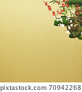 Japanese style background of Shochikuume and gold leaf-There are multiple variations 70942268