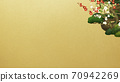 Japanese style background of Shochikuume and gold leaf-There are multiple variations 70942269