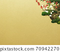 Japanese style background of Shochikuume and gold leaf-There are multiple variations 70942270