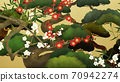 Japanese style background of Shochikuume and gold leaf-There are multiple variations 70942274