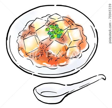 Food illustration Mapo tofu 70945339