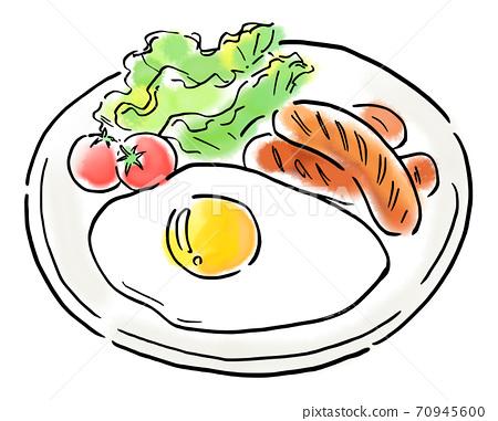 食物圖香腸套餐 70945600