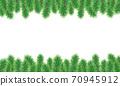聖誕樹樅樹框架綠色圖 70945912