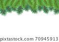 聖誕樹樅樹框架綠色圖 70945913